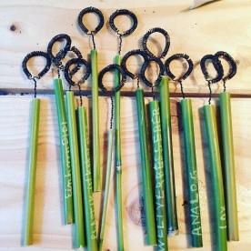 Fertige Seifenblasen Werkzeuge aus Bambus-von/für Einhornpipi