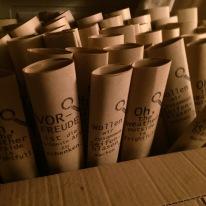Vorfreude schenken-die Papierhülsen für unser Seifenblasenwerkzeug ohne Plastik. Aus Bambus und Draht.